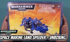 Space Marine Land Speeder Storm Unboxing
