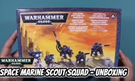 Space Marine Scout Squad with Sniper Rifles Unboxing